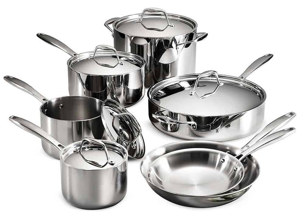 which set of pots and pans are best for induction cooktops - tramontina