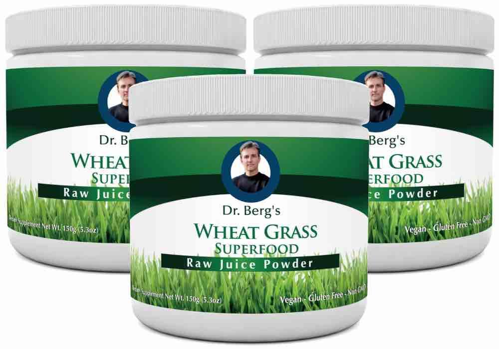 Dr Berg's best wheatgrass juice powder
