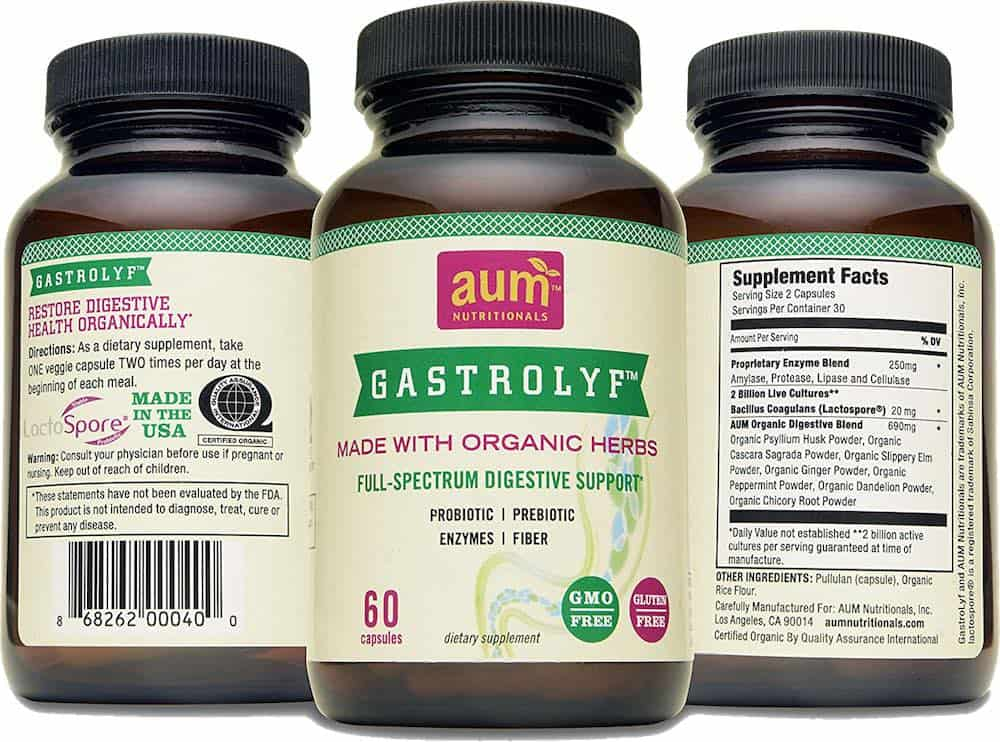 best plant-based digestive enzyme supplement is Gastrolyf