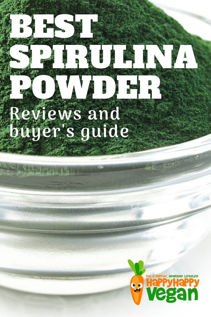 pinterest image for the best spirulina powder article