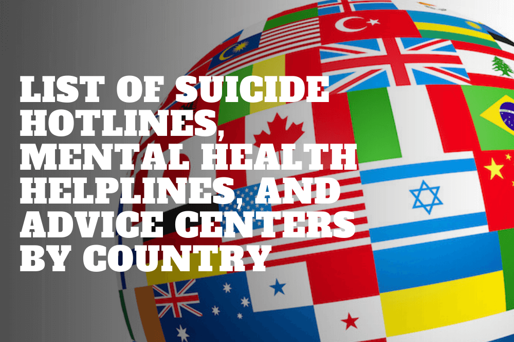 Mental Health Helplines, Suicide Hotlines, And Depression Advice Centers