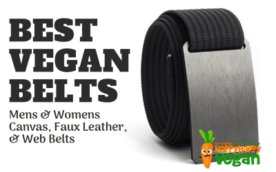 Vegan Belts: Mens & Womens Canvas, Faux Leather, & Web Belts
