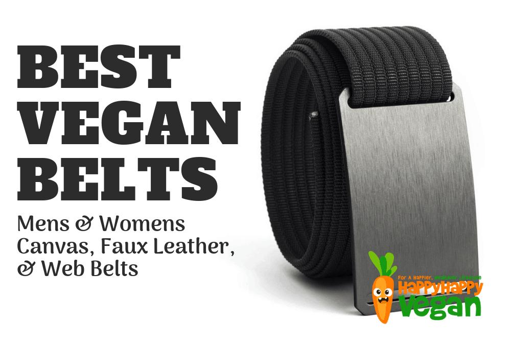Vegan Belts: Mens & Womens Canvas, Faux Leather, & Web Belts