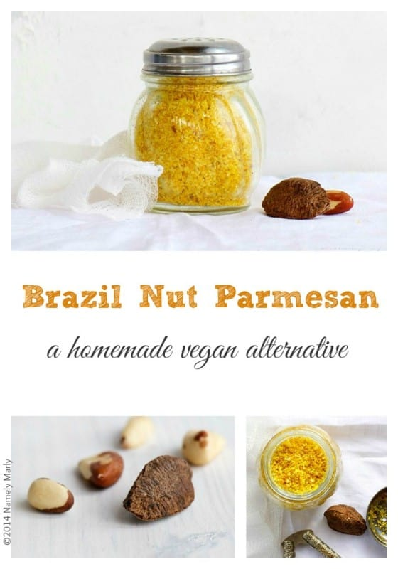 vegan parmesan from brazil nuts