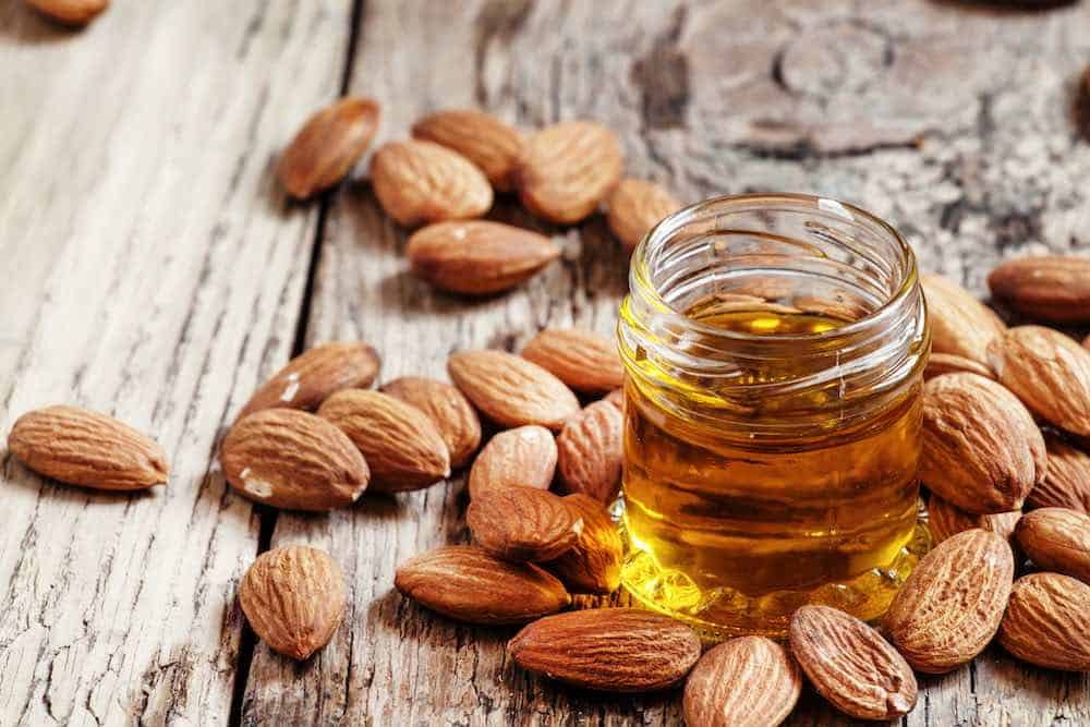 almond oil with whole almonds