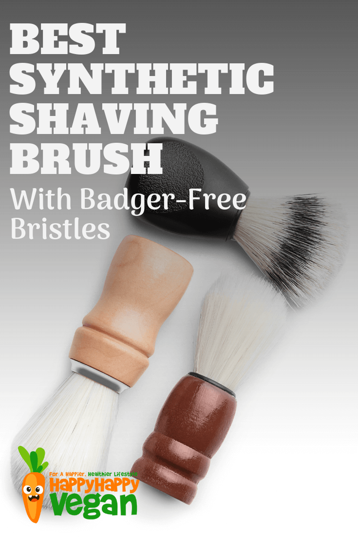 best shaving brush with synthetic bristles pinterest image