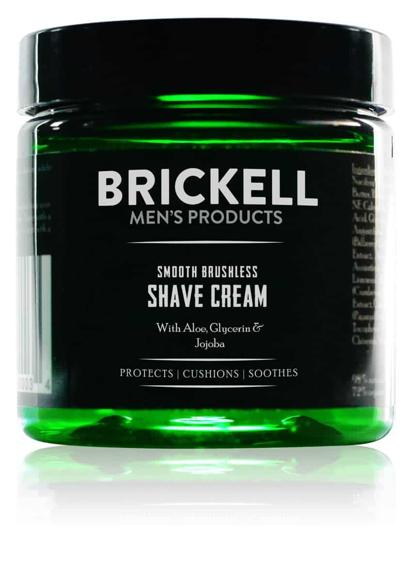 best vegan shave cream - brickell