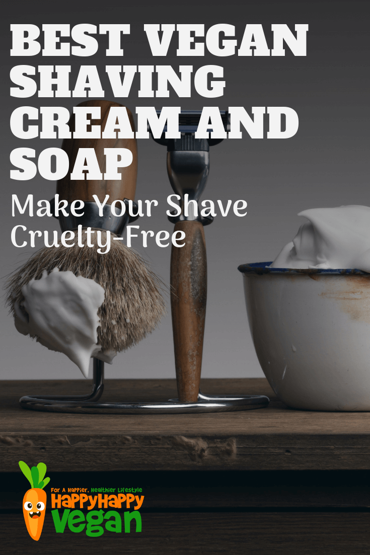 best vegan shaving soap and cream for men pinterest image