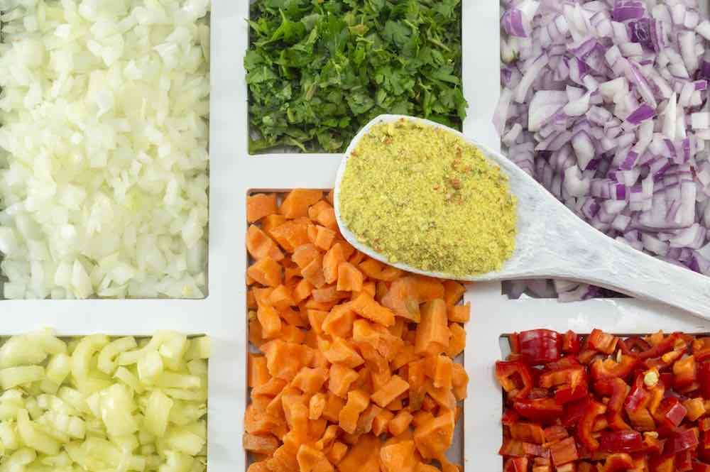 food dicer chopped veggies