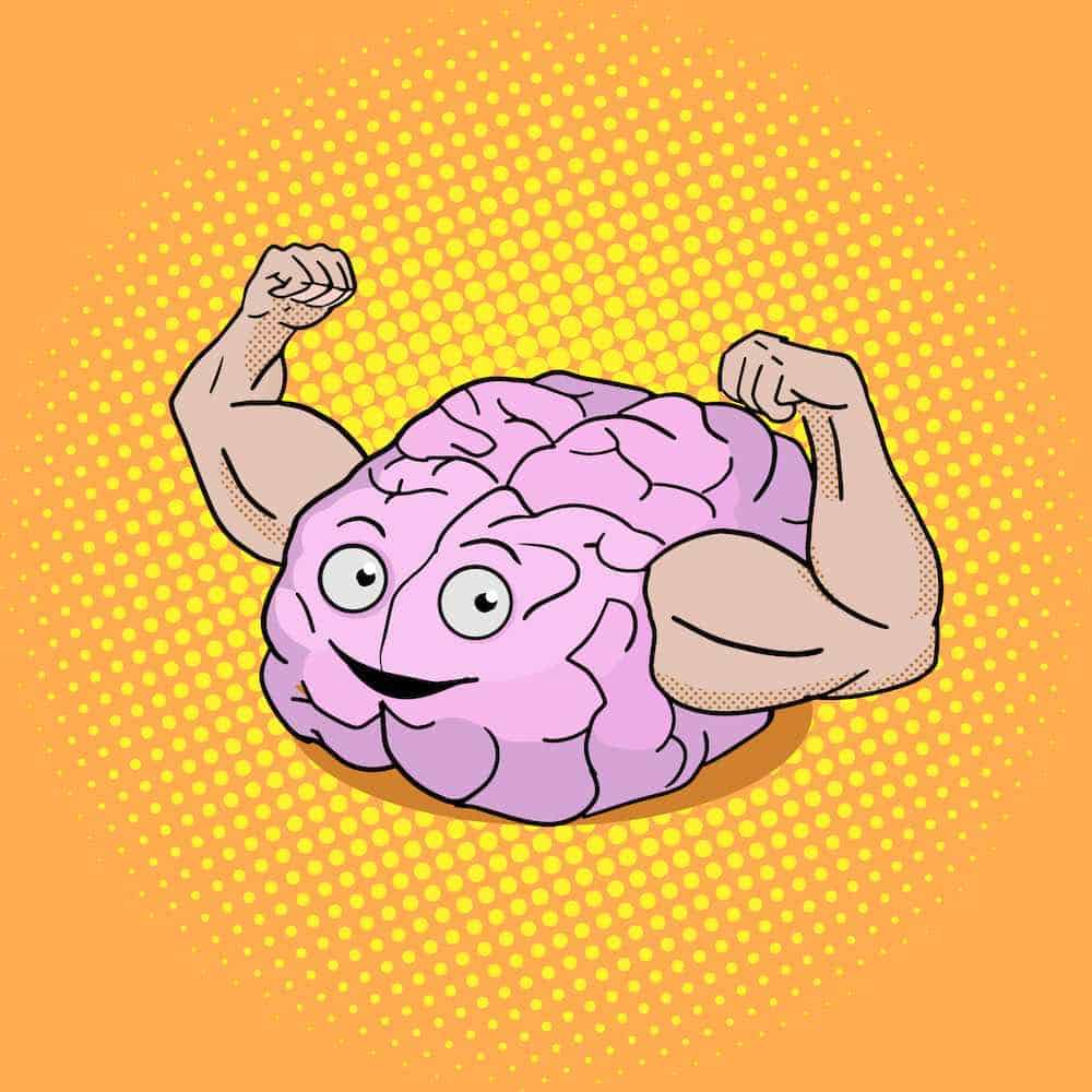 healthy and fit brain graphic