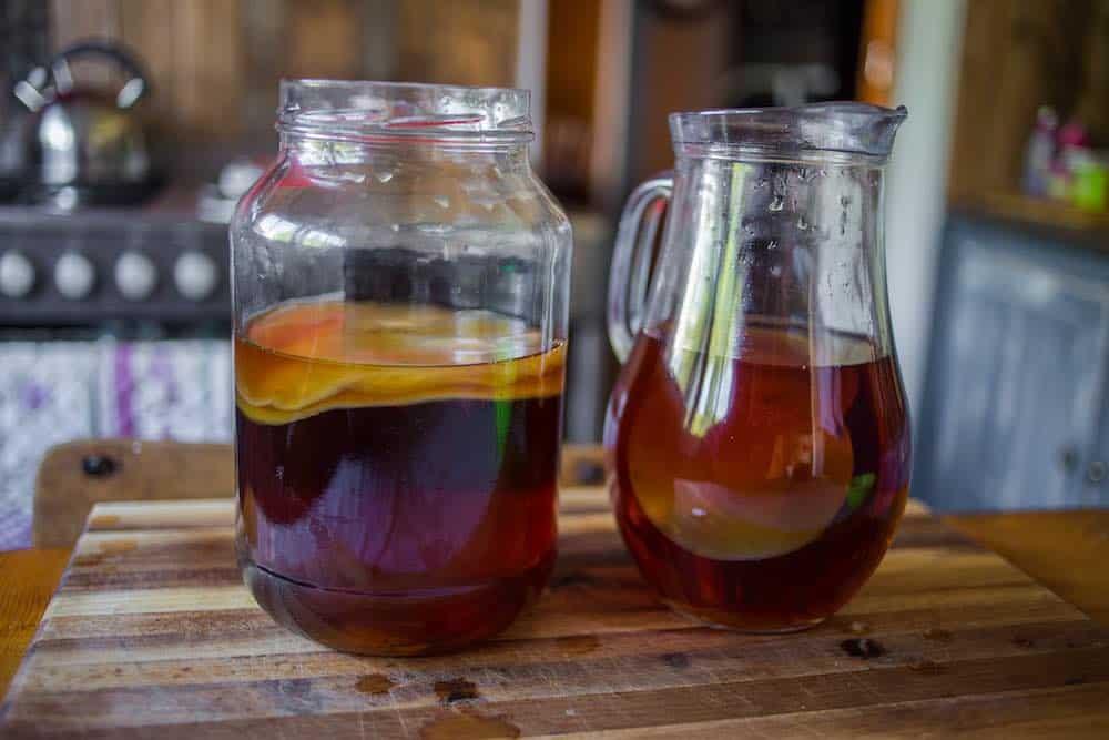 kombucha serving jug and brewing jar
