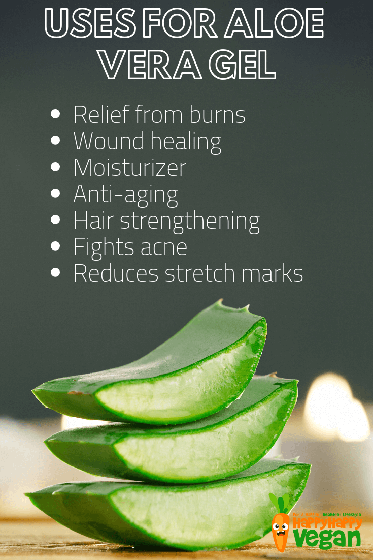 uses for pure natural aloe vera gel