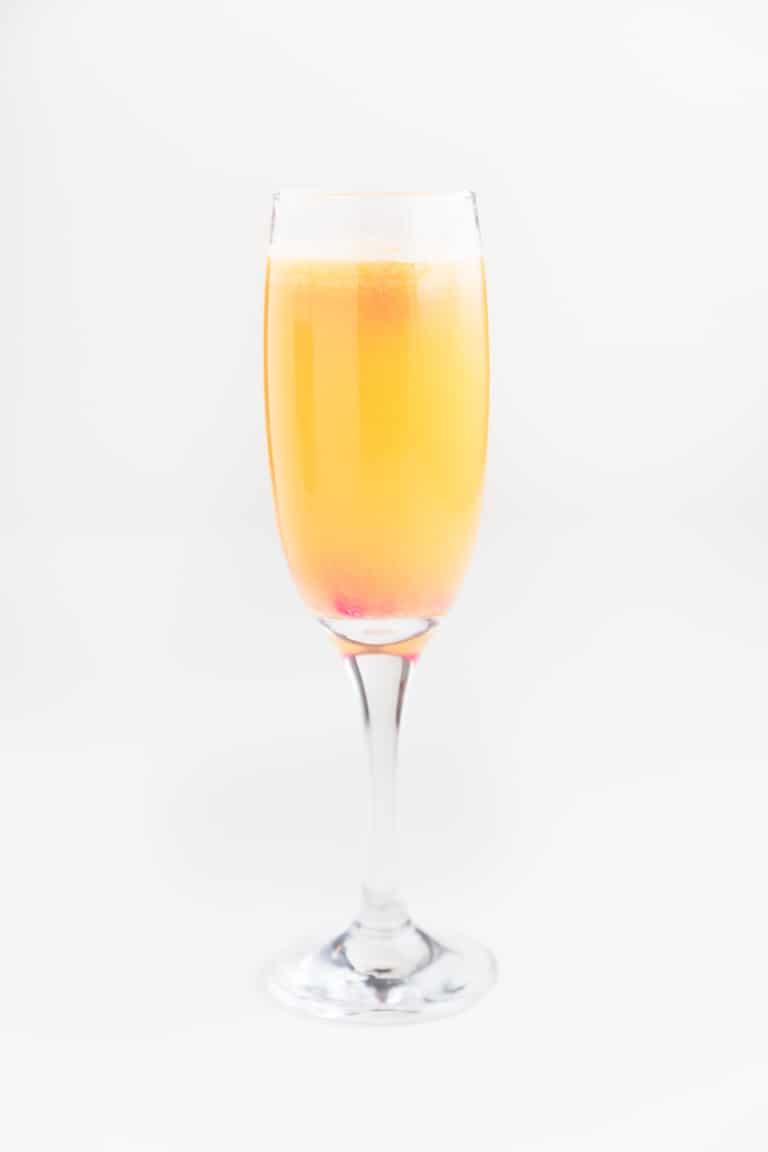 vegan kombucha mimosa mocktail